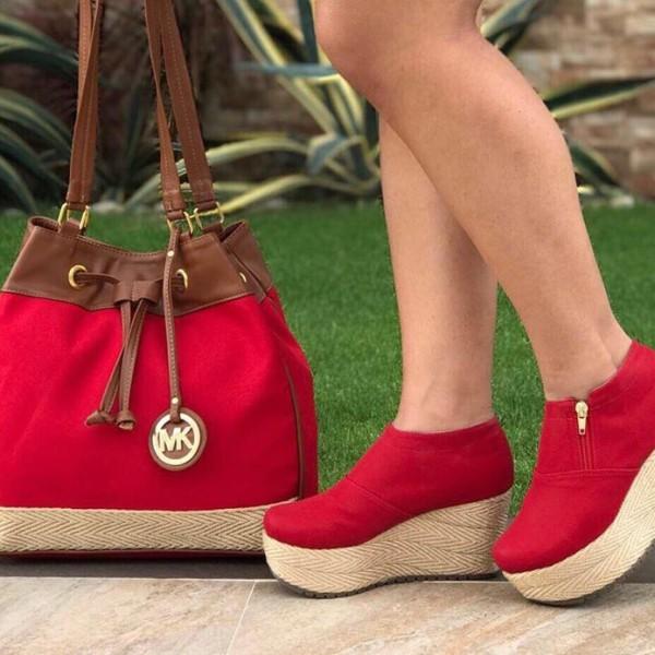 a86793114 Bolso mas zapatos de moda MK (Bota) Roja – DeProductos.com