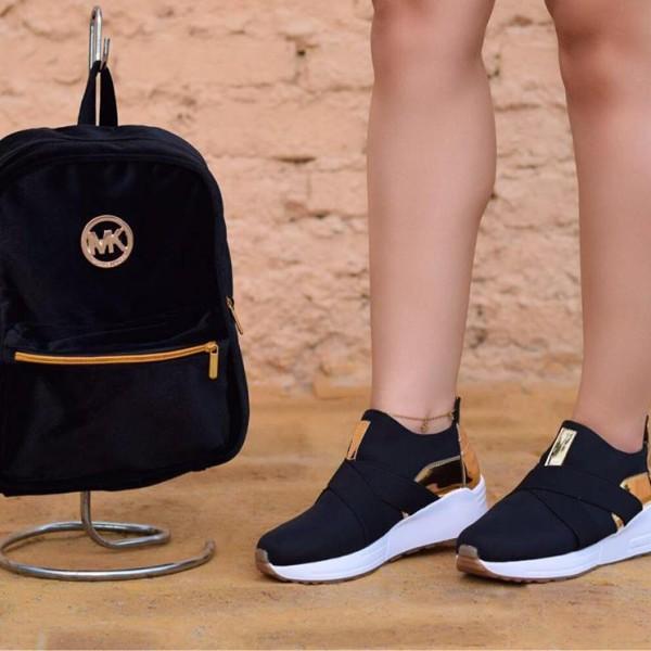 Negro Bolso Moda Mas Mk De Zapatos – WEDHI29Y