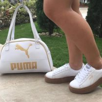 Duo Bolso mas zapatos de moda Puma Blanco
