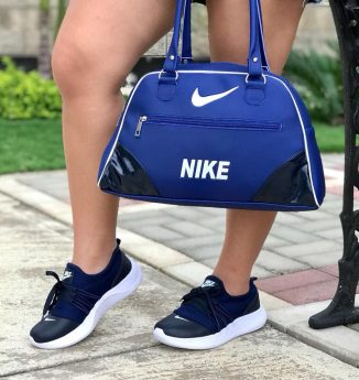 Duos de zapatos de moda bonitos deportivos Nike azul oscuro referencia 1