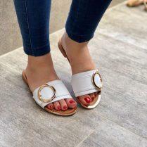 Sandalias de moda bonitas casuales Blancas ref # 2