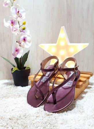 Sanadalias de moda bonitos casuales Lilas ref # 1