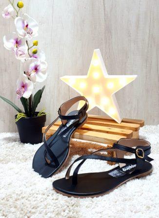 Sanadalias de moda bonitos casuales Negras ref # 1