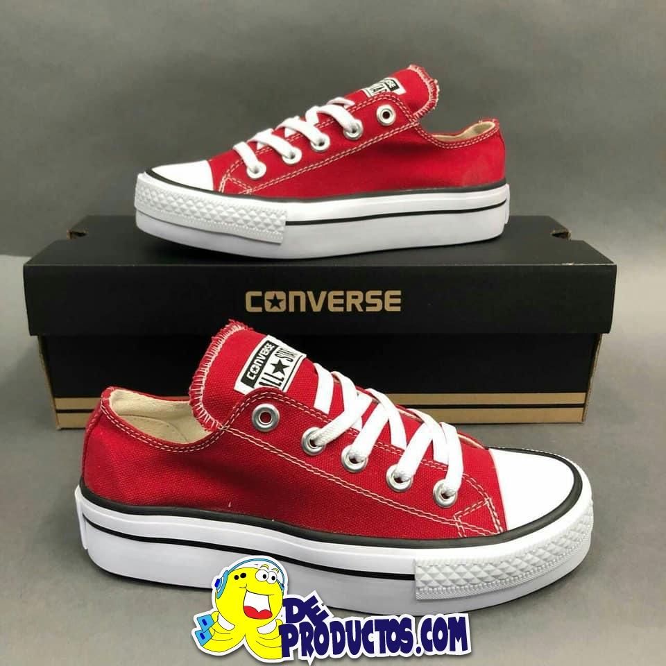 gran variedad de nueva precios más bajos compras Zapatos de moda Convers para Dama rojos 2018
